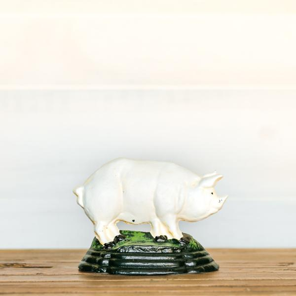 Cast Iron Pig Door Stop