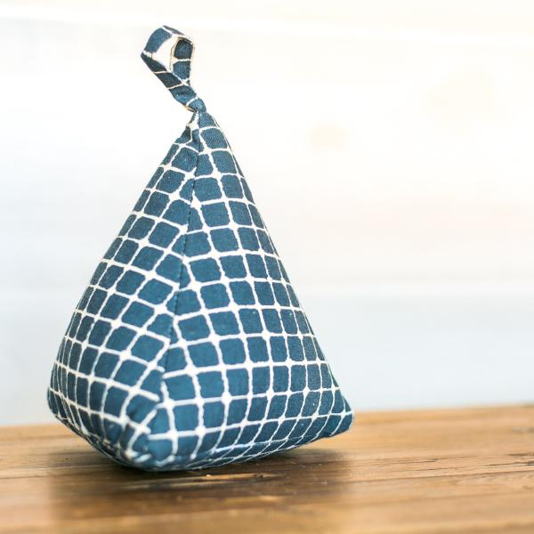 Blue & White Check Door Stopper