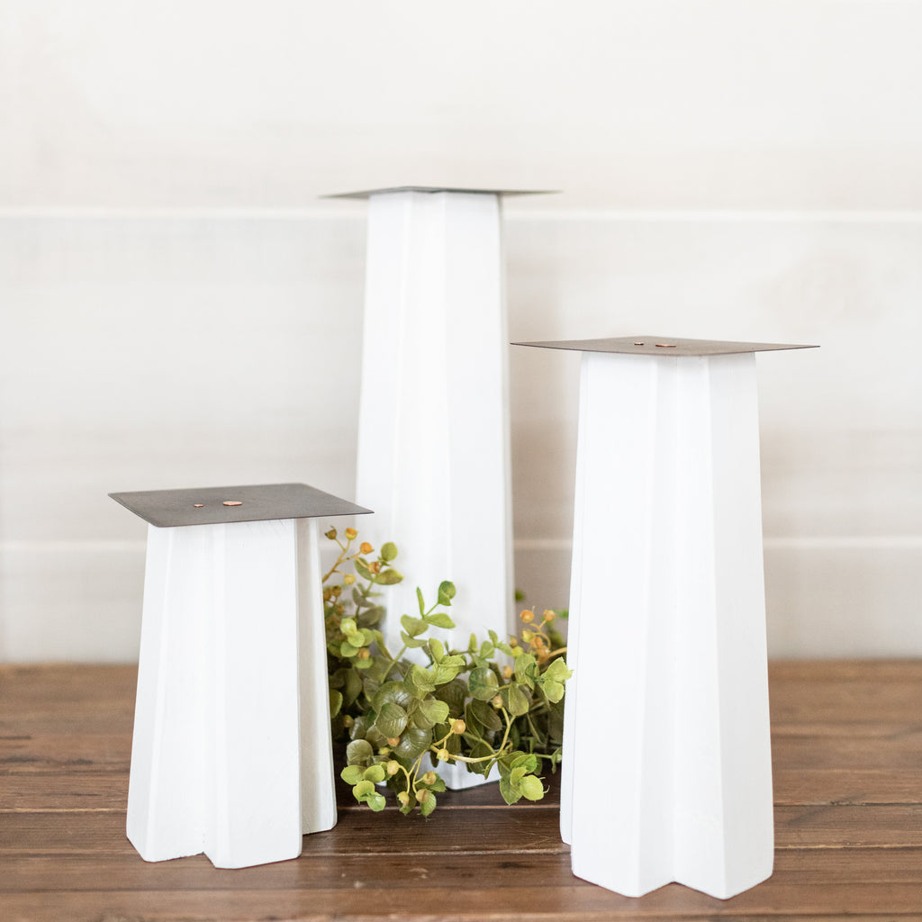 Geometric Candle Stick Set