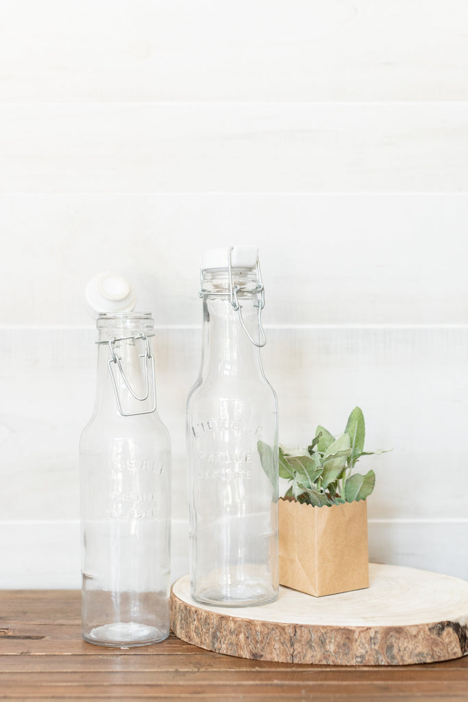 Glass Bottle with Ceramic Lid