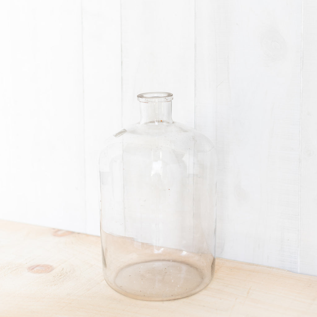 Large Vintage Glass Bottle