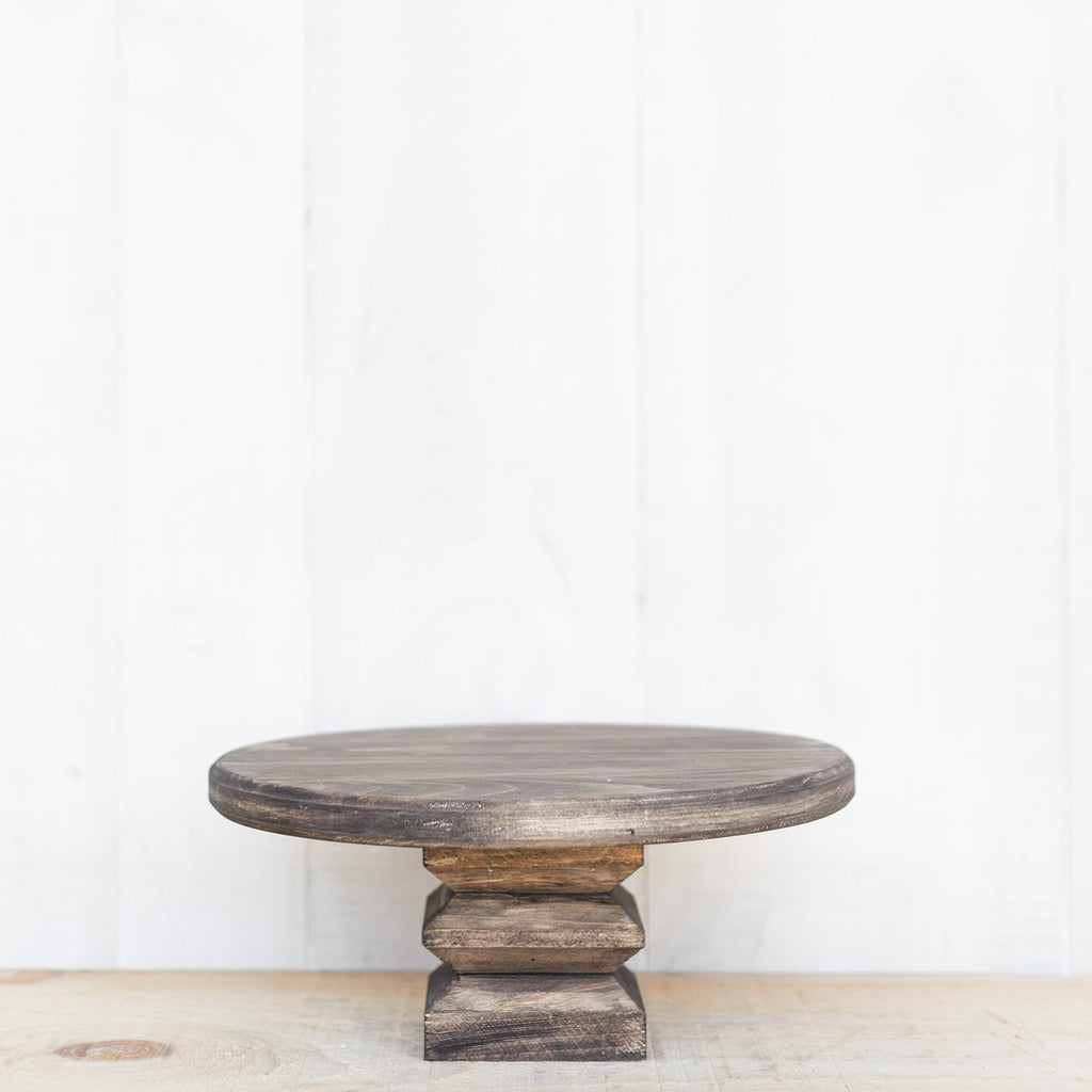 Wooden Cake Stand - NEW Colors