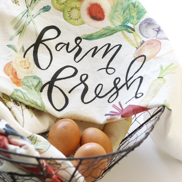 Farm Fresh Tea Towel