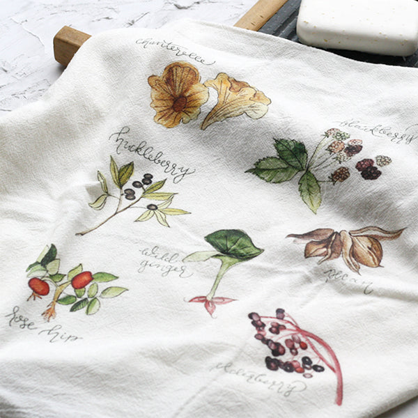 Foraged Tea Towel