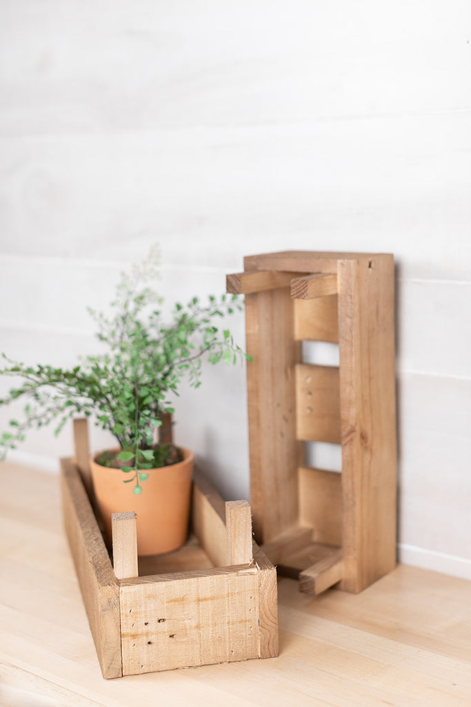 Long Wood Crate Planter