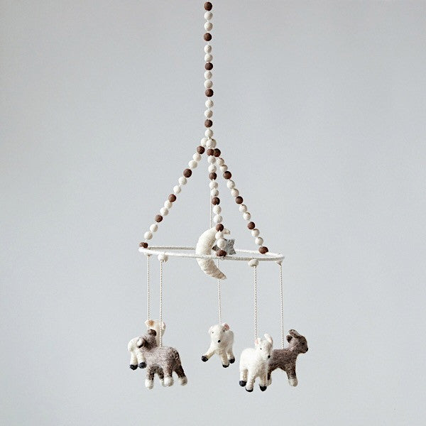 Wool Baby Lamb Mobile