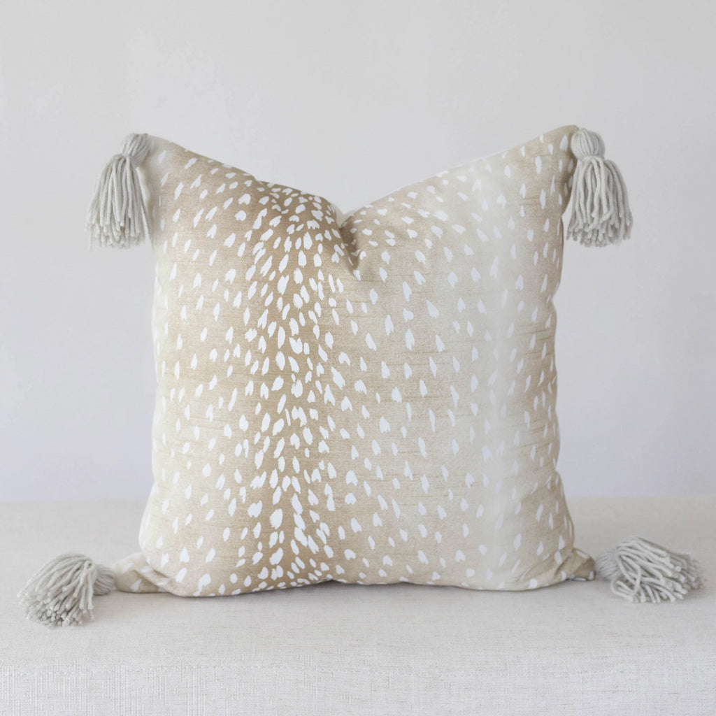 Antelope Pillow Cover with Tassels