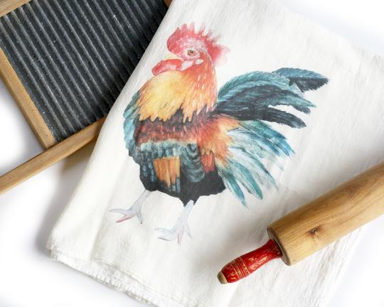 Rooster Tea Towel