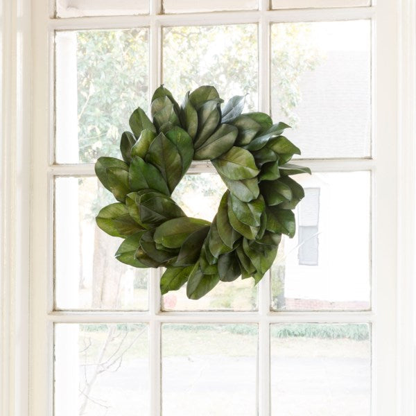Preserved Magnolia Leaf Wreath