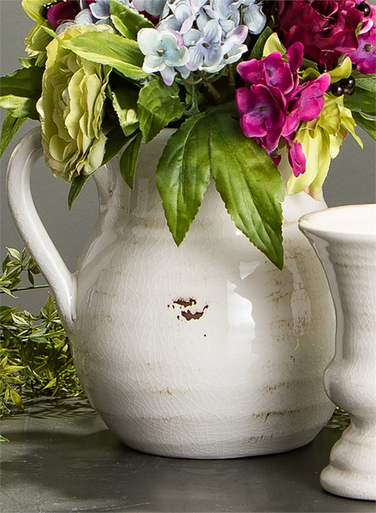 Round Ceramic Pitcher