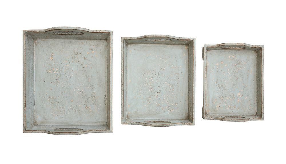 Distressed Tray Set