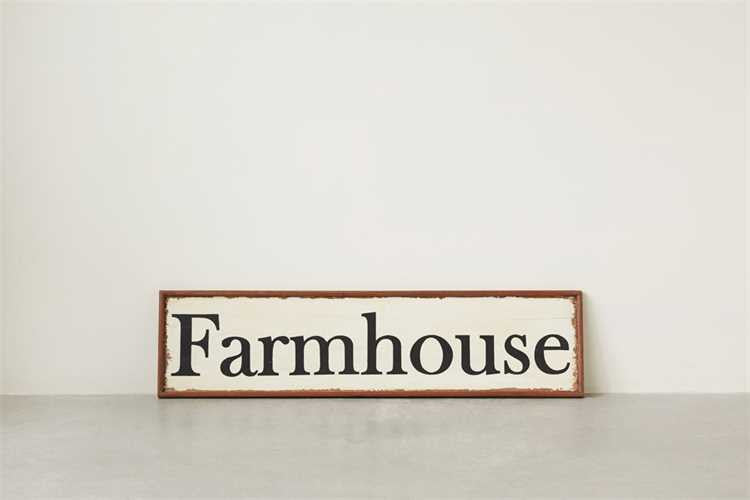 Wooden Farmhouse Sign