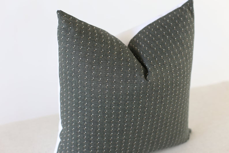Green Patterned Pillow Cover