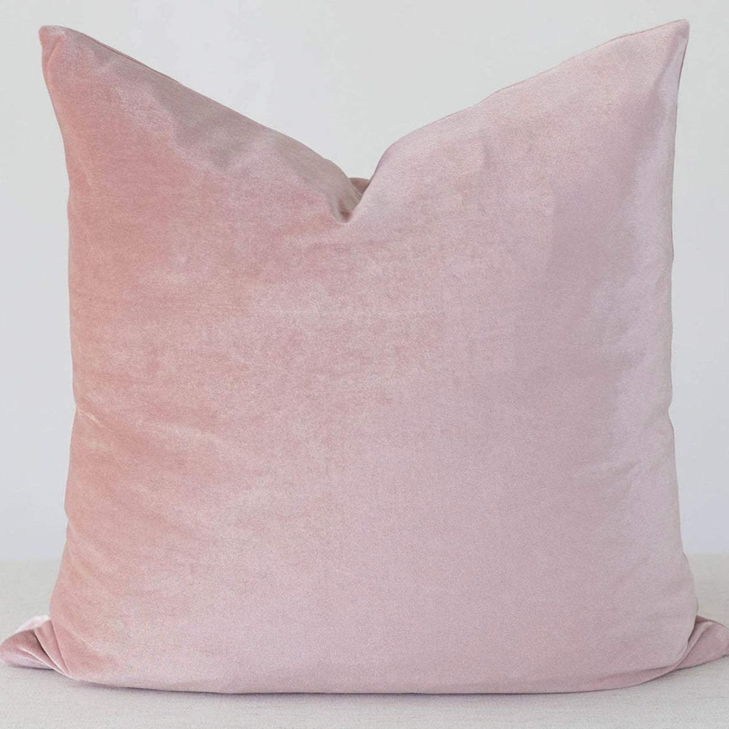 Dusty Rose Velvet Pillow Cover