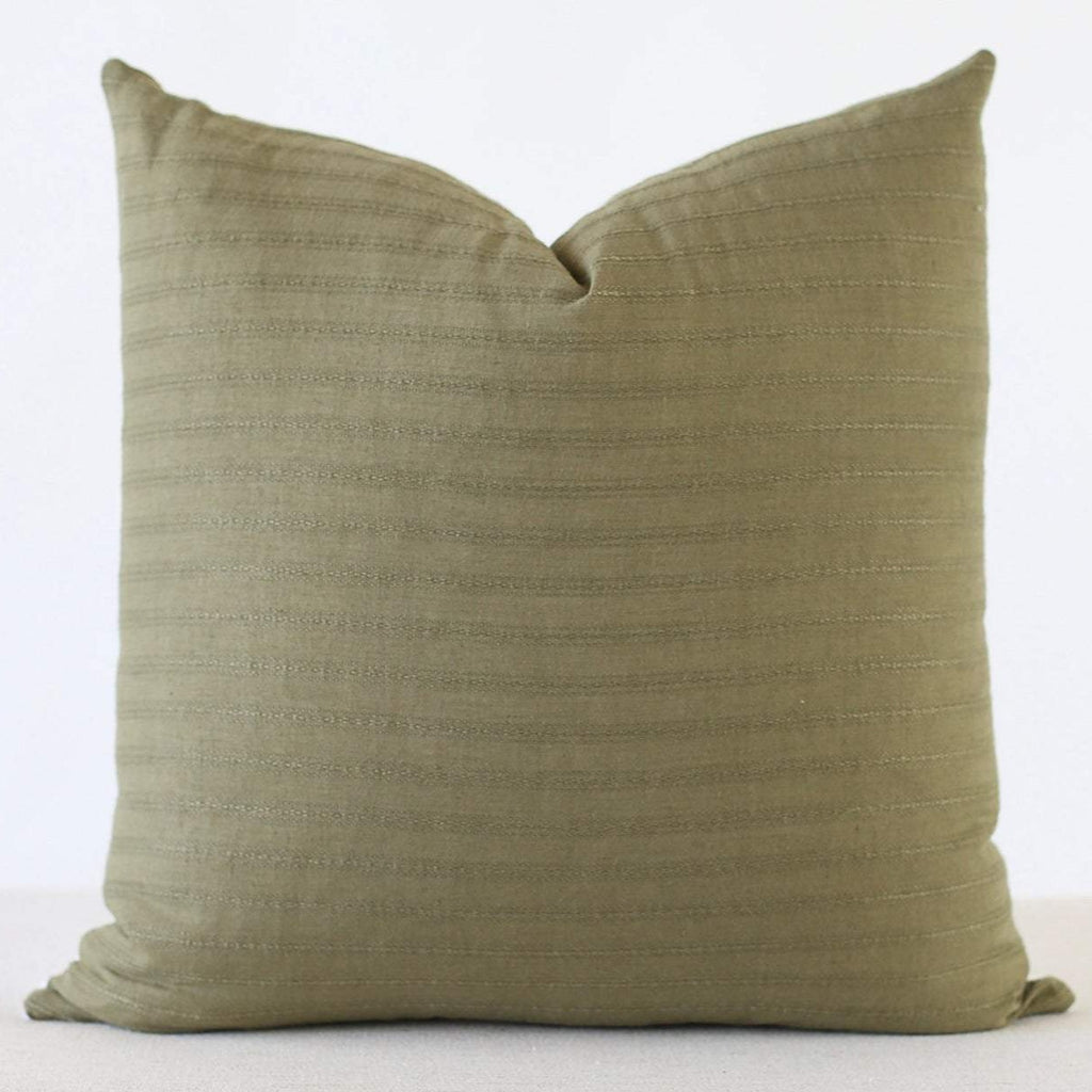 Green Stripe Pillow Cover