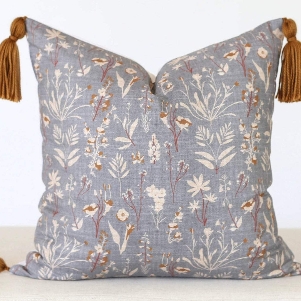 Wildflower Pillow Cover with Tassels
