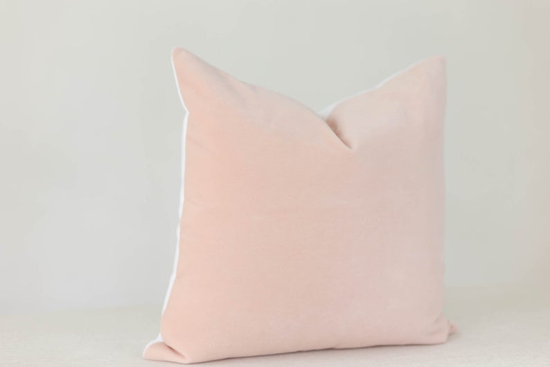 Blush Velvet Pillow Cover