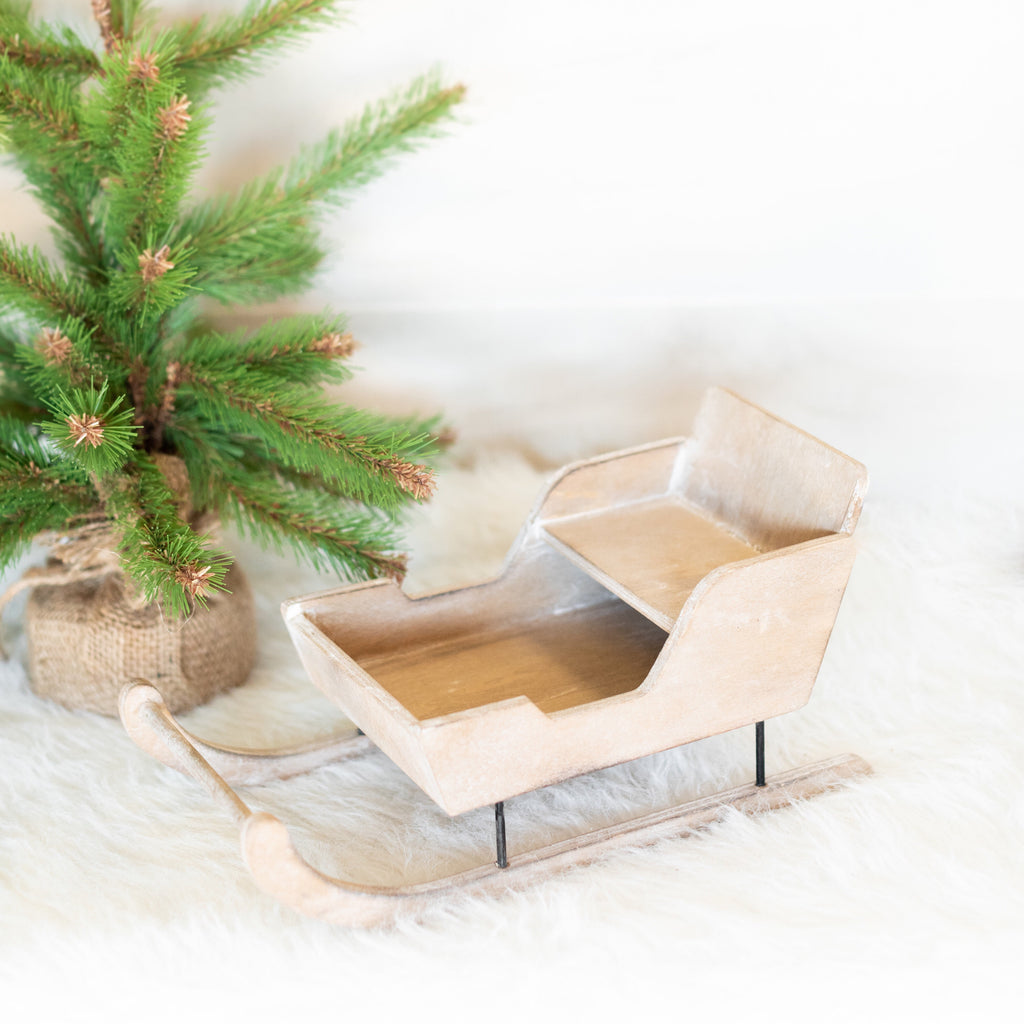 Decorative Wood Sleigh