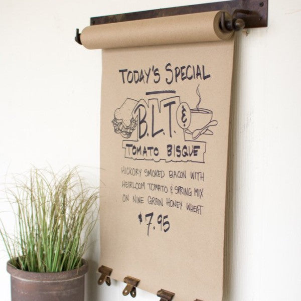 Farmhouse Hanging Note Roll