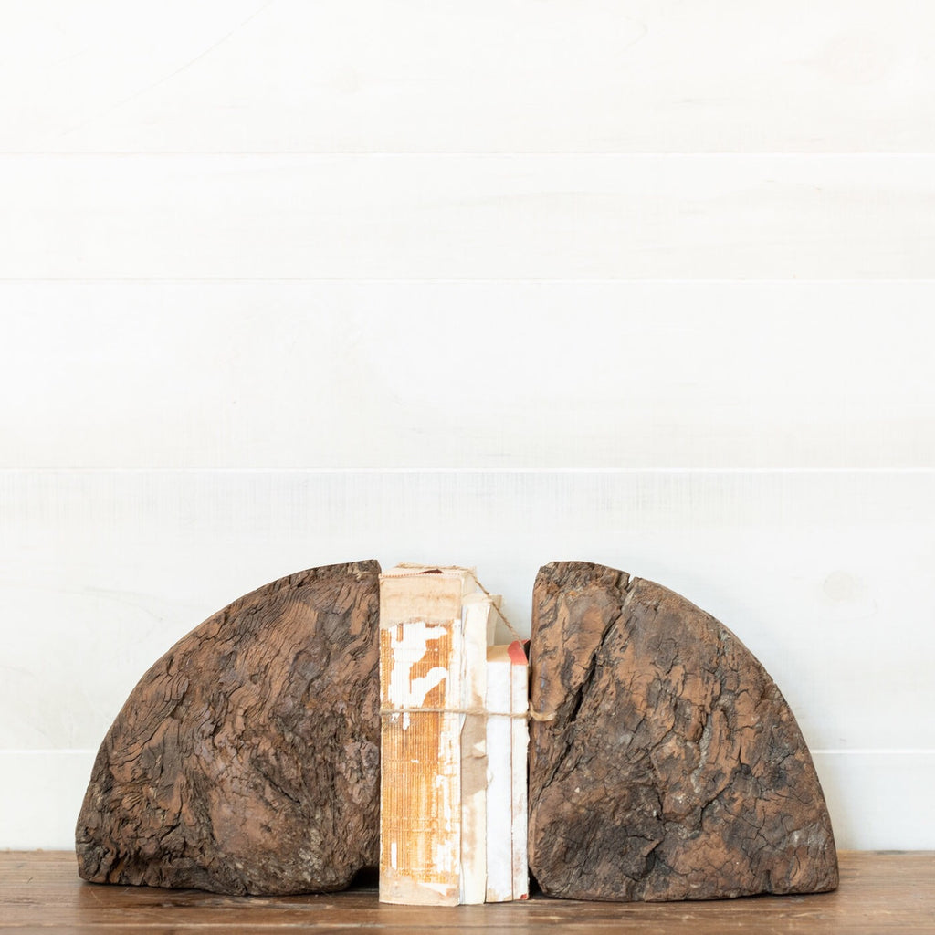 Wood Chunk Bookend