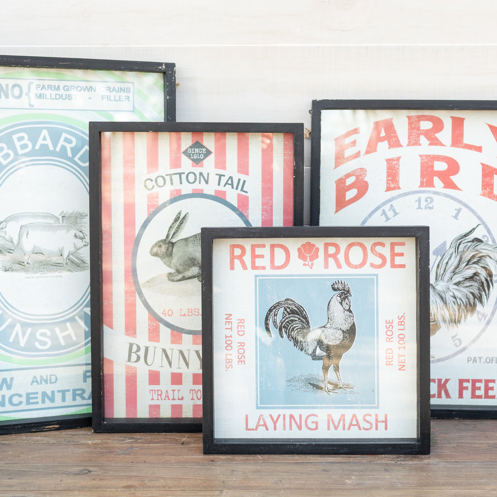 Framed Feedsack Prints