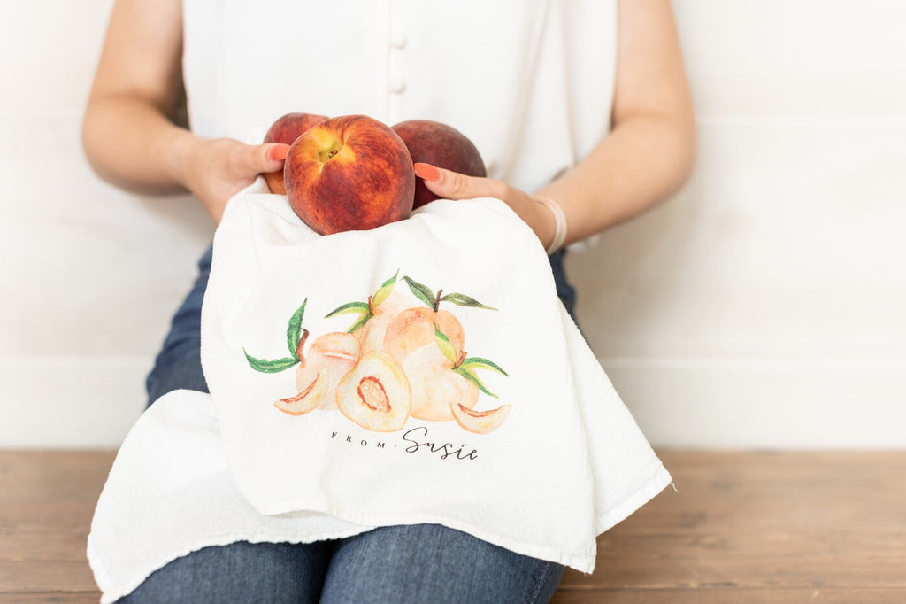 From: Susie Exclusive Peach Tea Towel