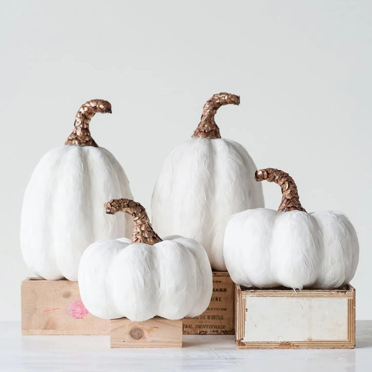 Feathered Pumpkins