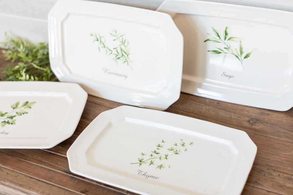 Set of 4 Herb Platters