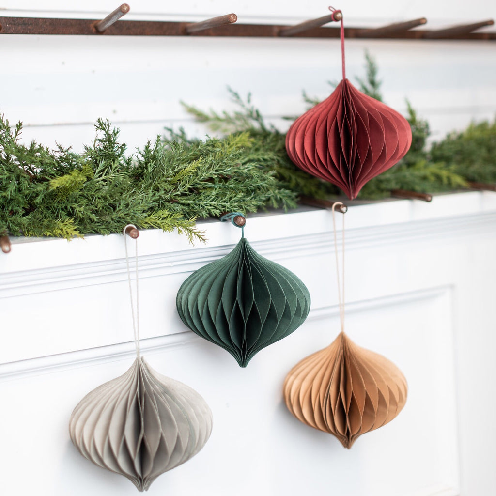 Paper Honeycomb Ornaments