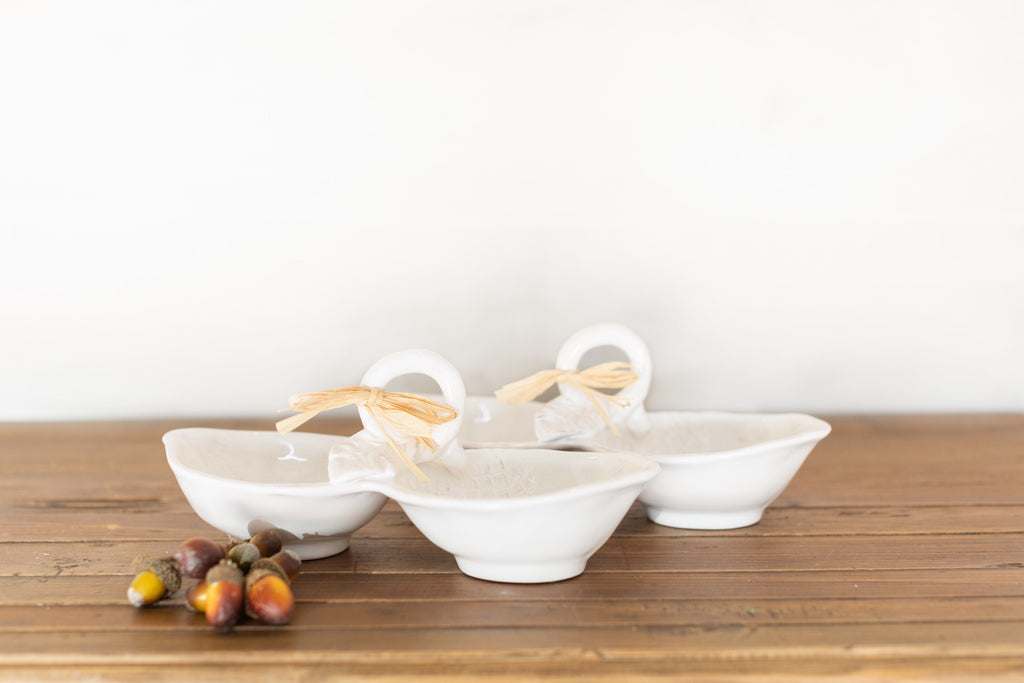 Ceramic Double Acorn Candy Dish