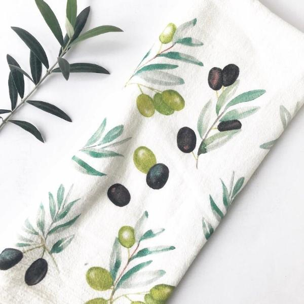 Olive Tea Towel