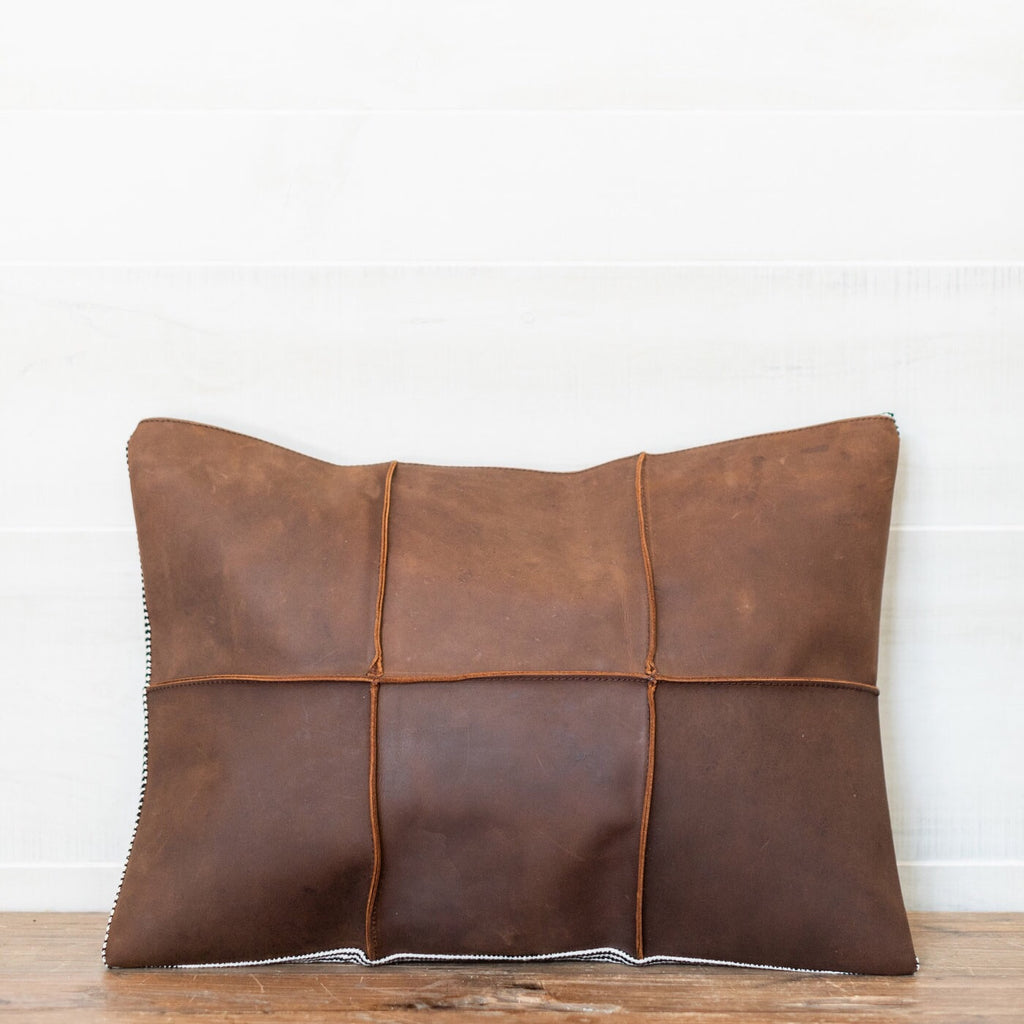 Leather & Felt Pillow