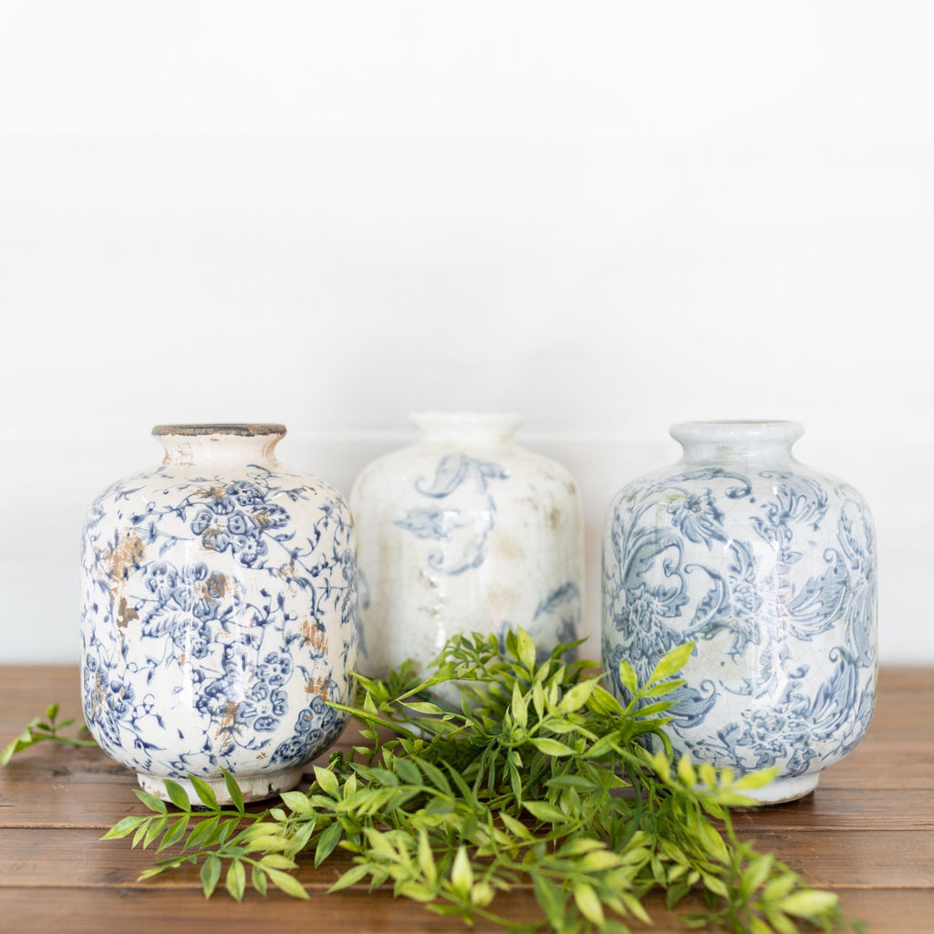 Transferware Vase Set
