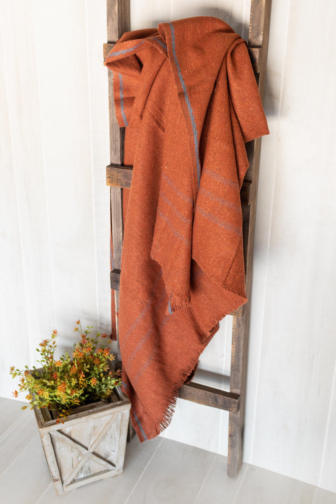 Rust Wool Blanket