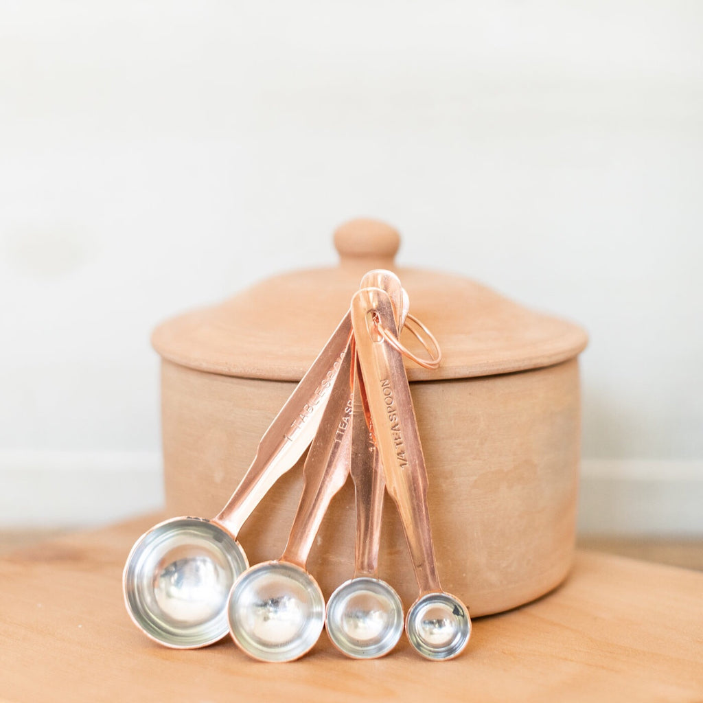 Stainless & Copper Measuring Spoons
