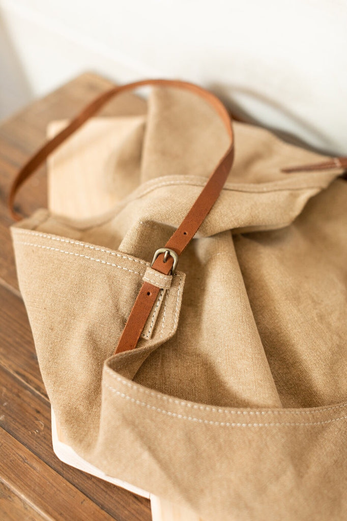 Pocket Apron with Leather