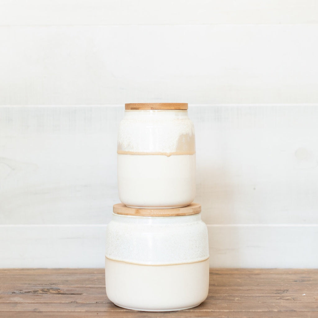 Canister with Bamboo Lid