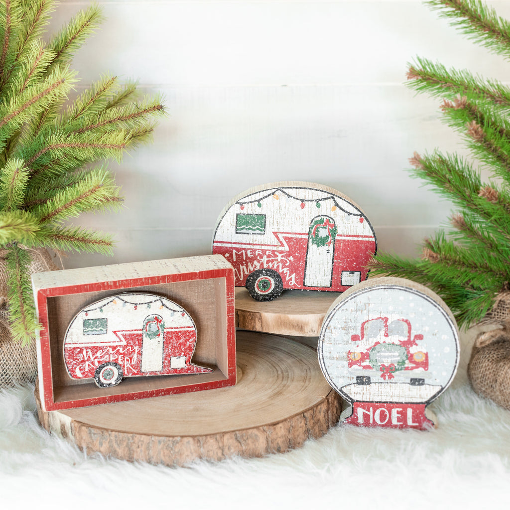 Christmas Wood Block Set