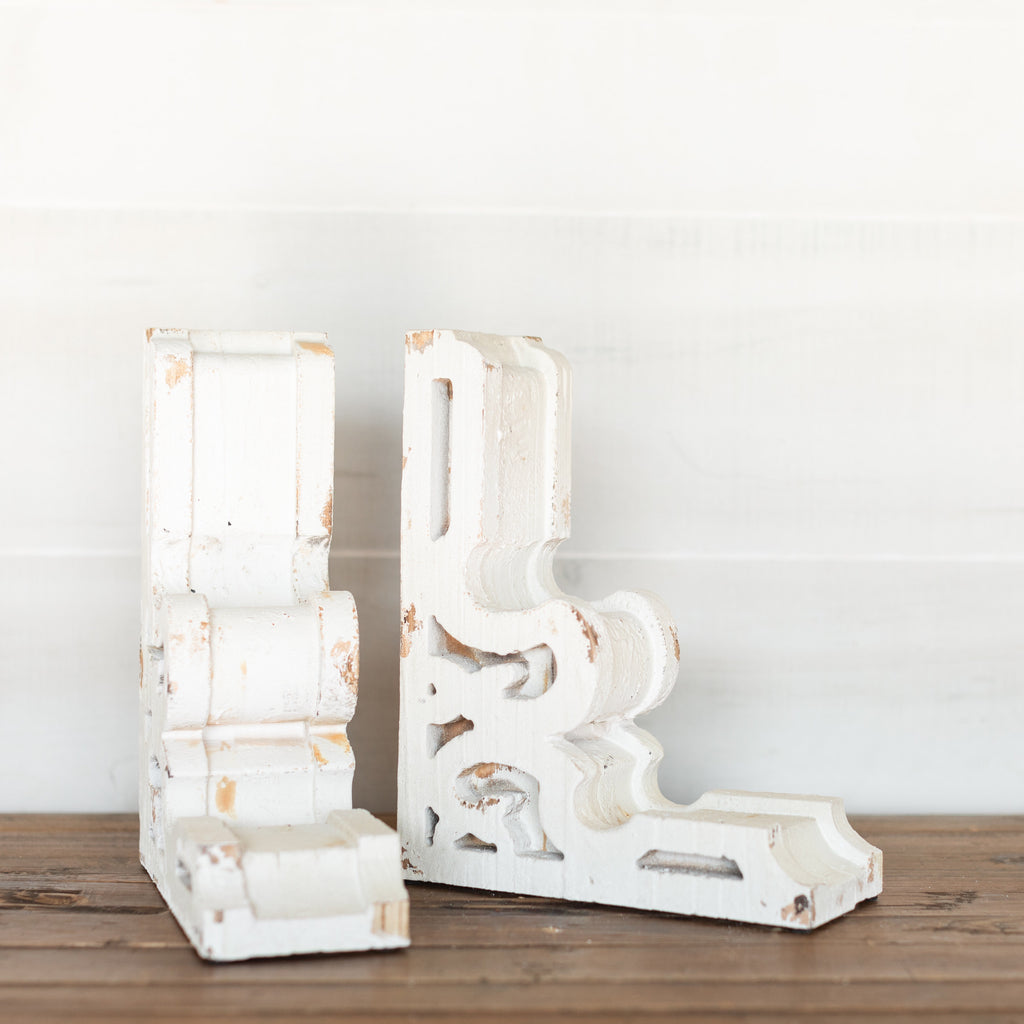 White Wood Bookends