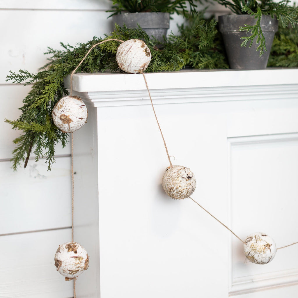 Birch Ball Garland