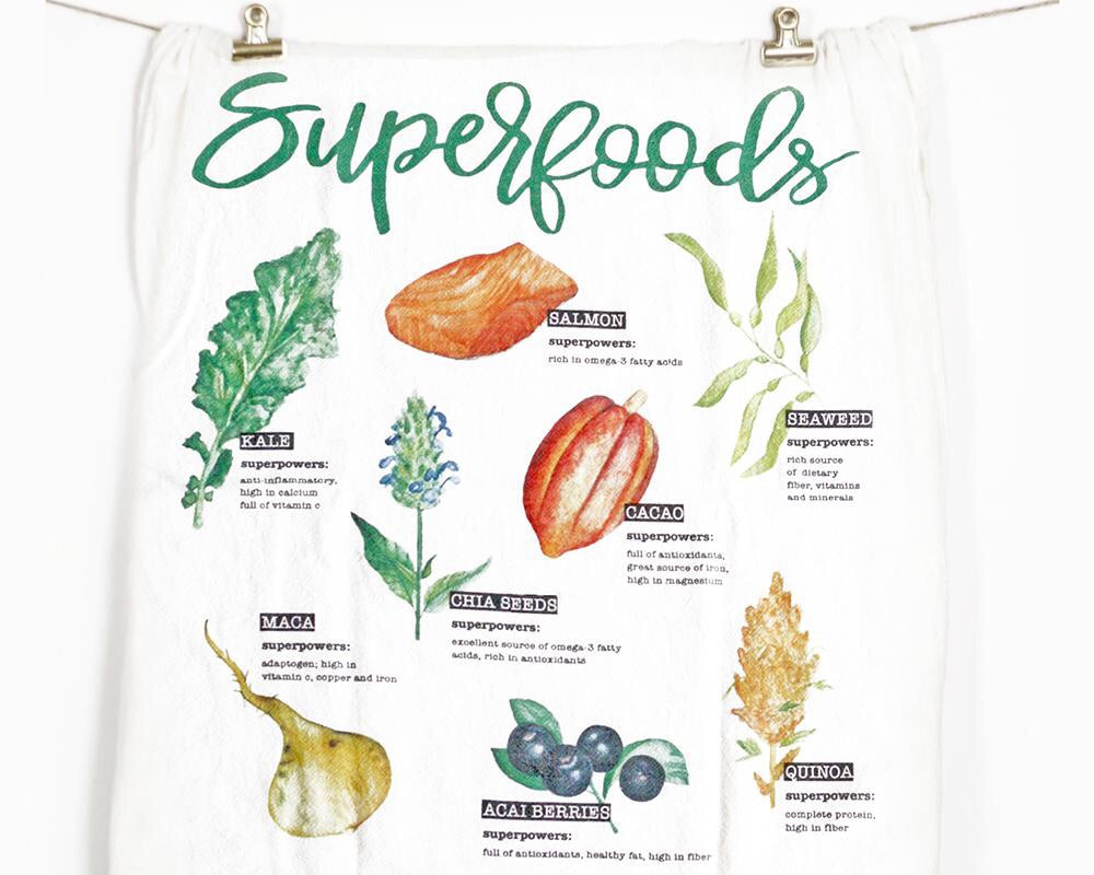 Superfoods Tea Towel