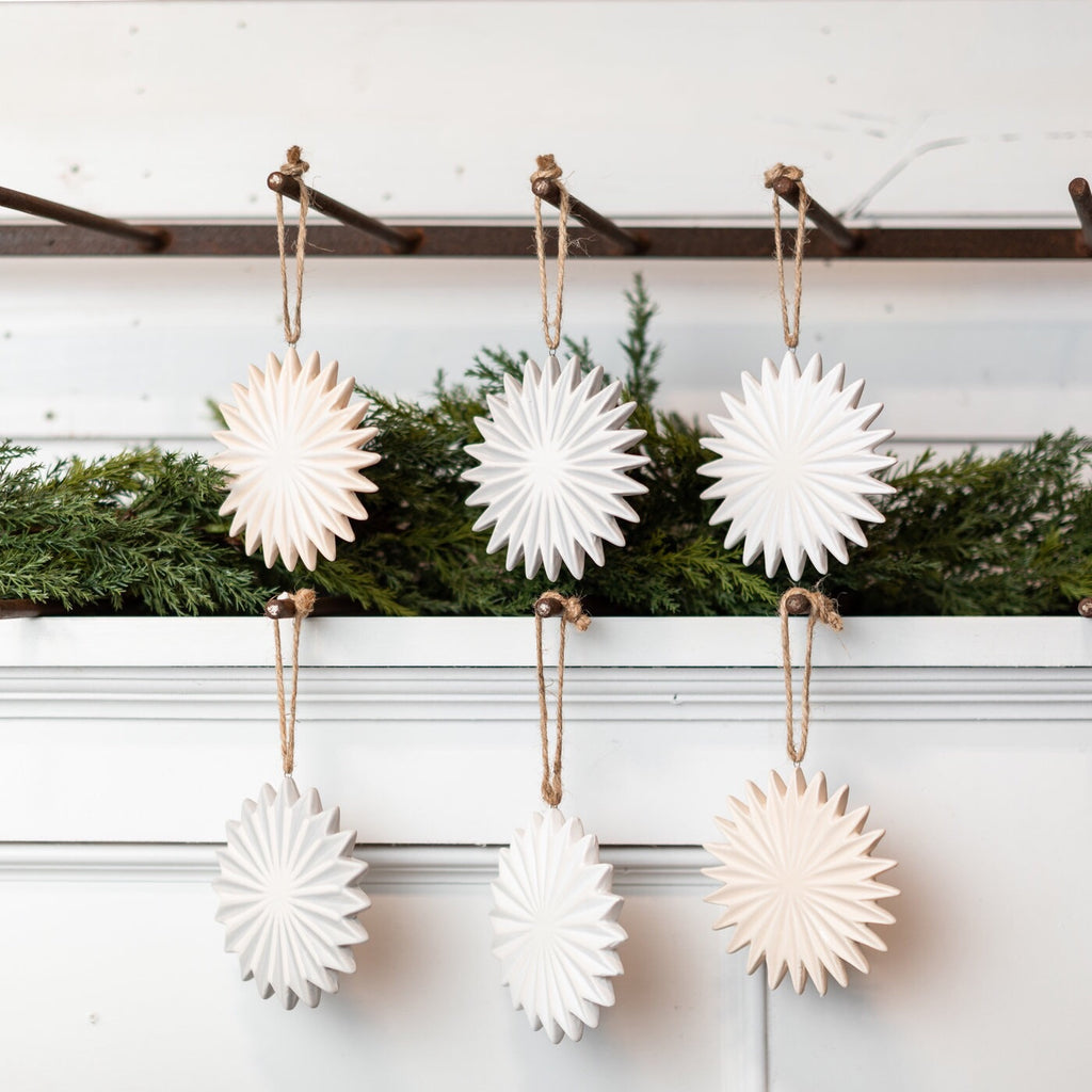 Stoneware Ornament Set