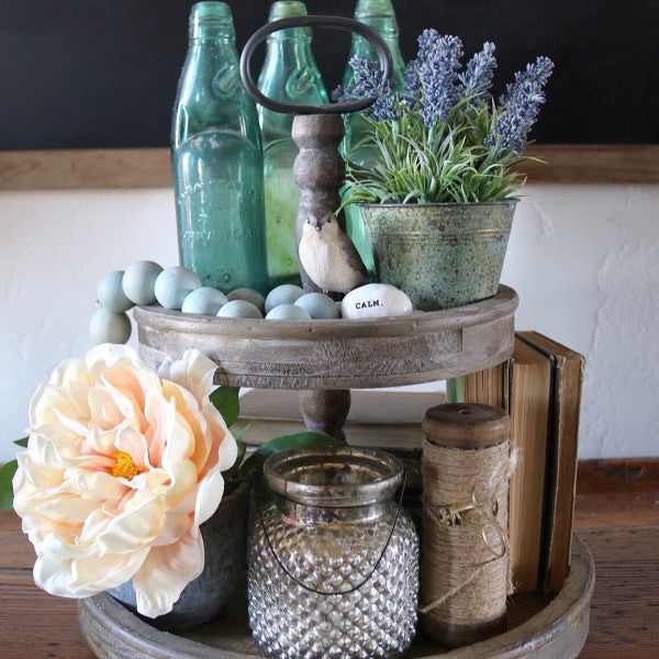Farmhouse Wooden Tiered Stand IN STOCK