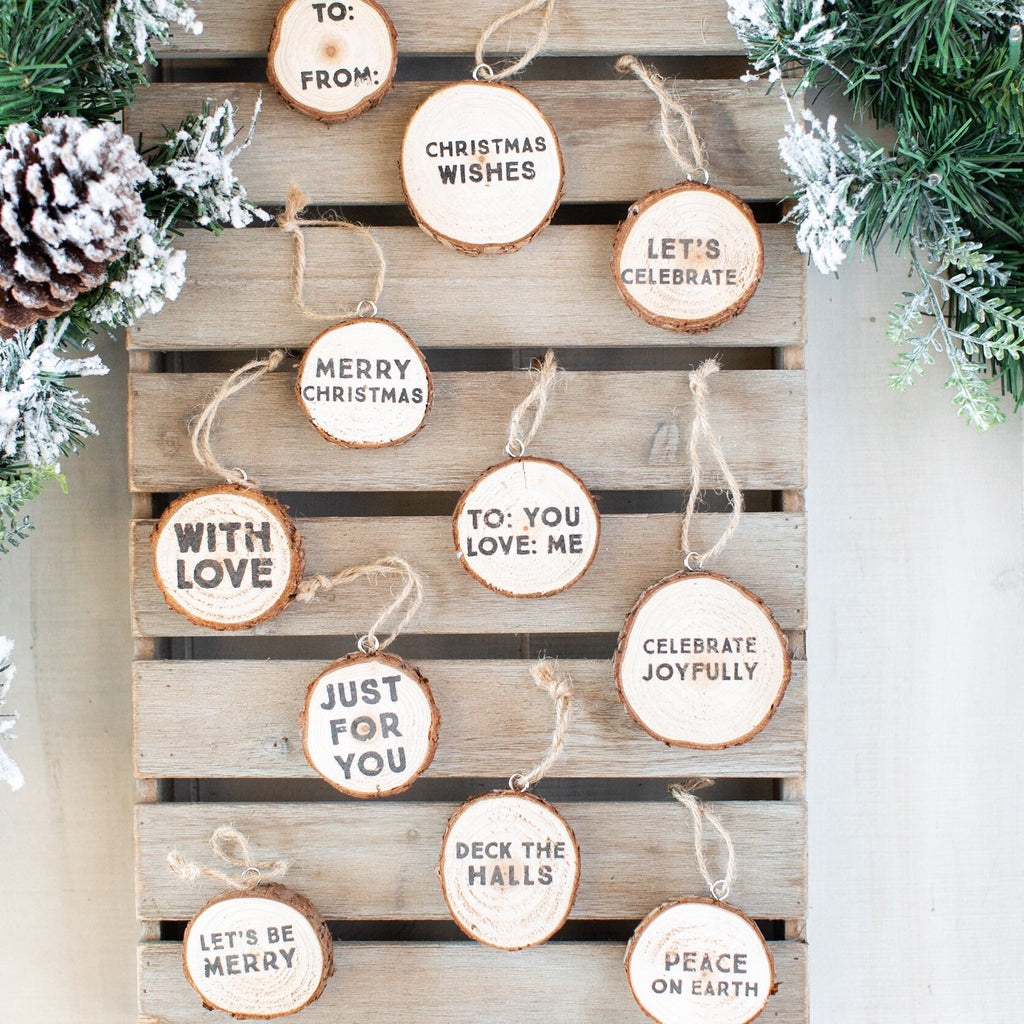 Wood Slice Tag Set