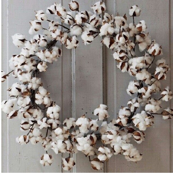 Cotton Wreath IN STOCK