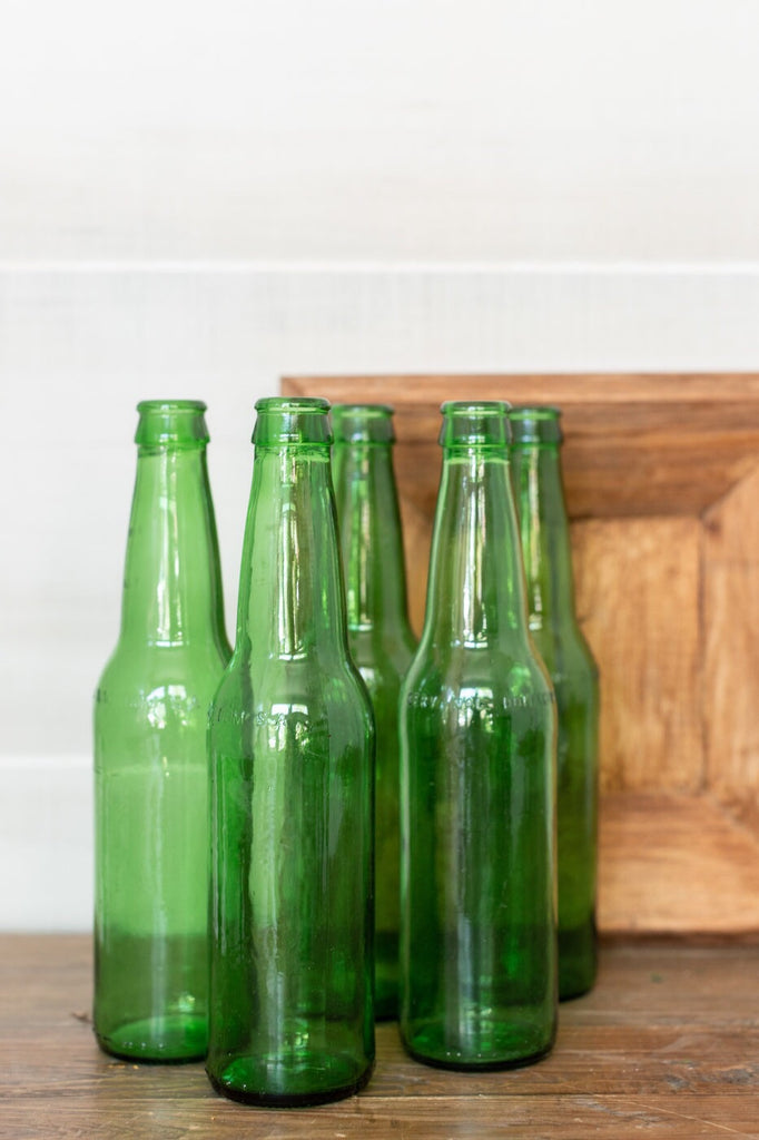 Recycled Green Glass Bottle Set
