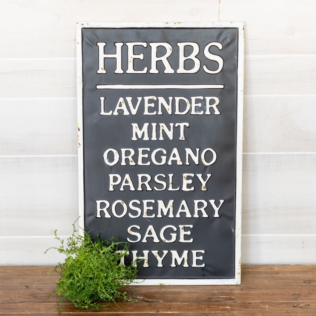 Herbs Metal Sign