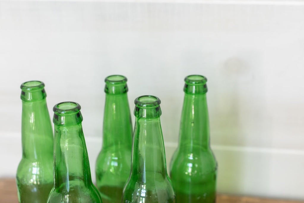 Recycled Green Glass Bottles