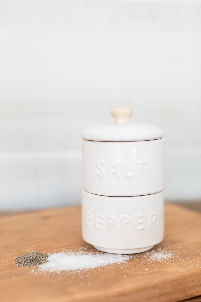 Stackable Salt & Pepper