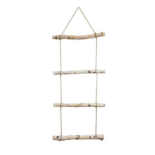 Birch Wood Hanging Ladder